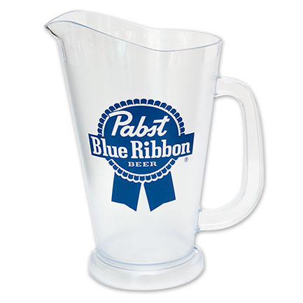 Pabst Brewing Co. Plastic 60 Oz PBR Pitcher