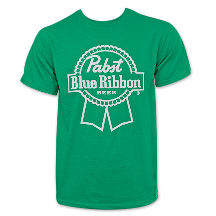 Pabst Blue Ribbon Green Logo T-Shirt