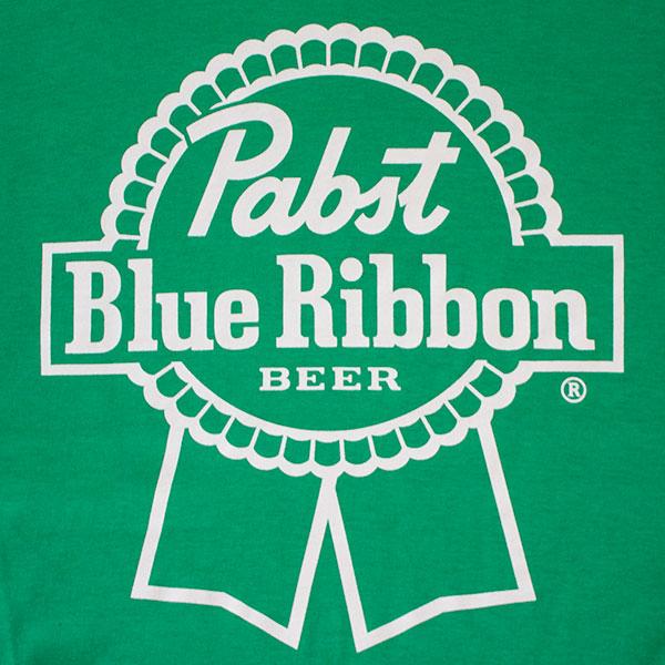 PBR Green Ribbon Logo Beer Tee Shirt
