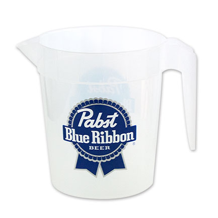 Pabst Brewing Co. Plastic 48 Oz PBR Pitcher