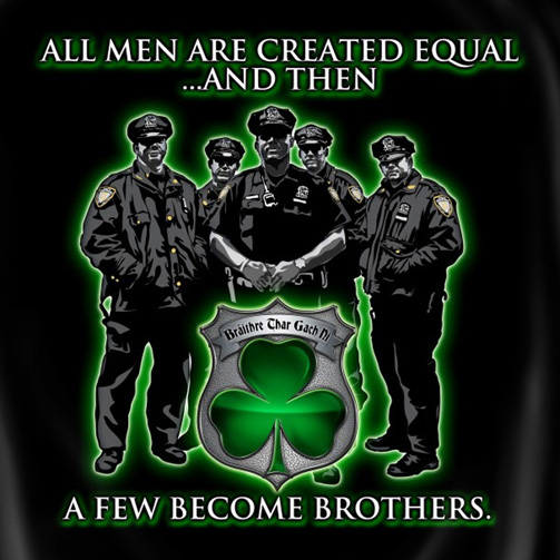 All Men Are Created Equal Irish Police Tee