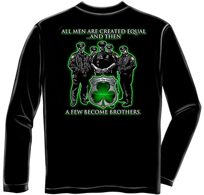 Police Irish Brothers Black Long Sleeve T-Shirt