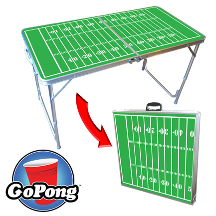 Ultra Portable 4' Folding Football Beer Pong Table - (FREE SHIPPING)
