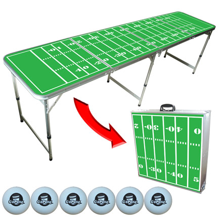 Ultra Portable 8' Folding Football Beer Pong Table - (FREE SHIPPING)