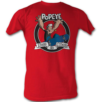 Popeye Born To Skate T-Shirt