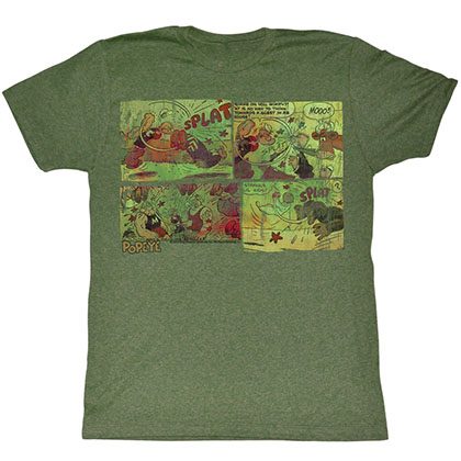 Popeye Fightin Around The World T-Shirt