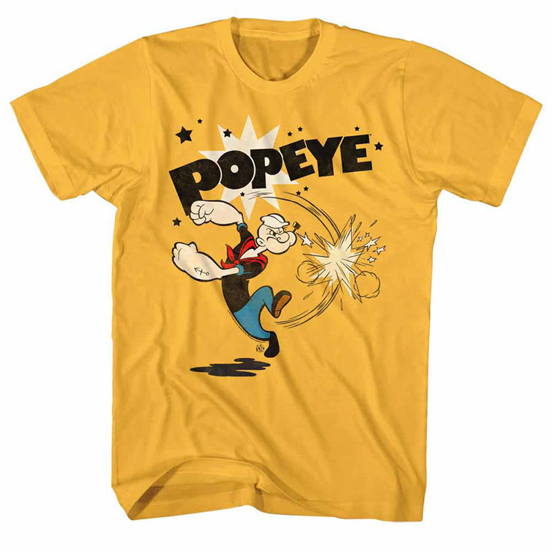 Popeye Punch Yellow TShirt