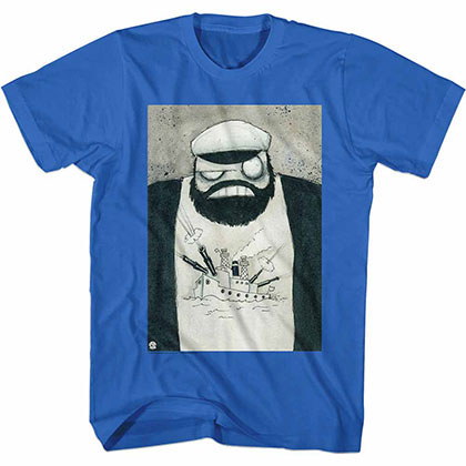 Popeye Crazy Brut Blue Tee Shirt