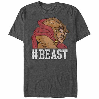 Disney Princesses Beast Gray T-Shirt