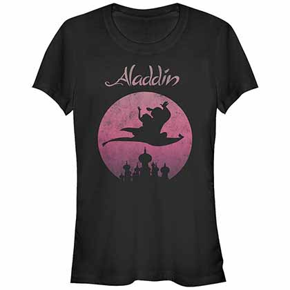 Disney Princesses Flying High Black Juniors T-Shirt