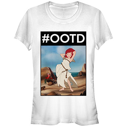 Disney The Little Mermaid OOTD Ariel White Juniors T-Shirt