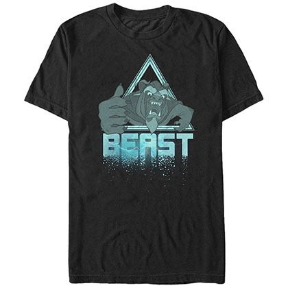 Disney Beauty And The Beast Tri Black T-Shirt