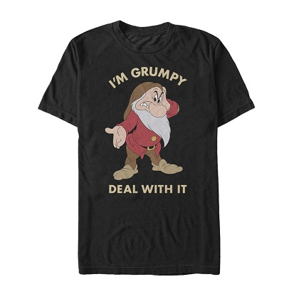 Snow White and the Seven Dwarfs I'm Grump Tshirt