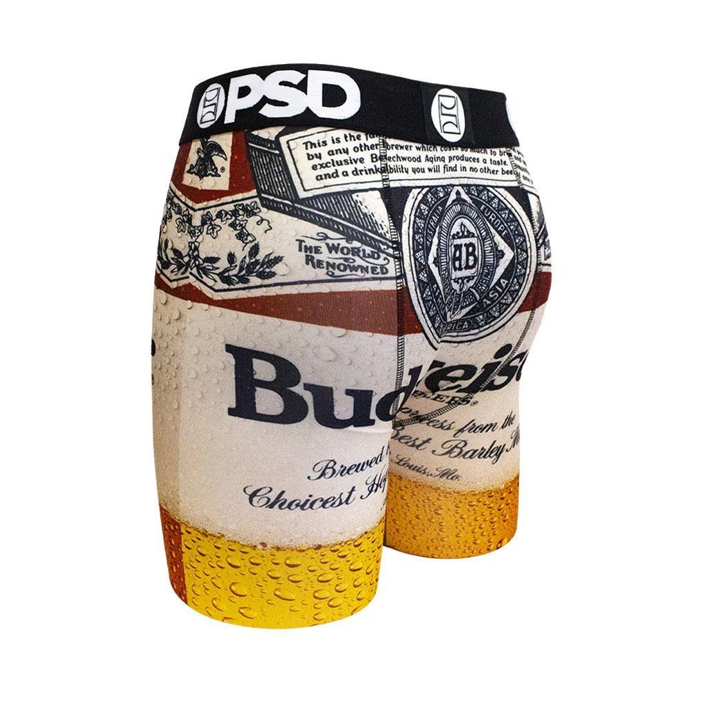 fdfd75aa839cd Budweiser Bottle Label Boxer Briefs