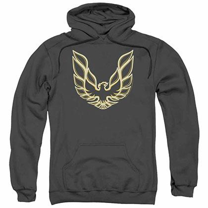 Pontiac Iconic Firebird Gray Pullover Hoodie