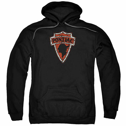 Pontiac Early Pontiac Arrowhead Black Pullover Hoodie