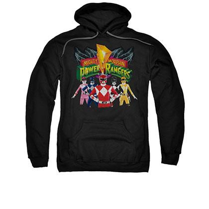Power Rangers Unite Black Pullover Hoodie