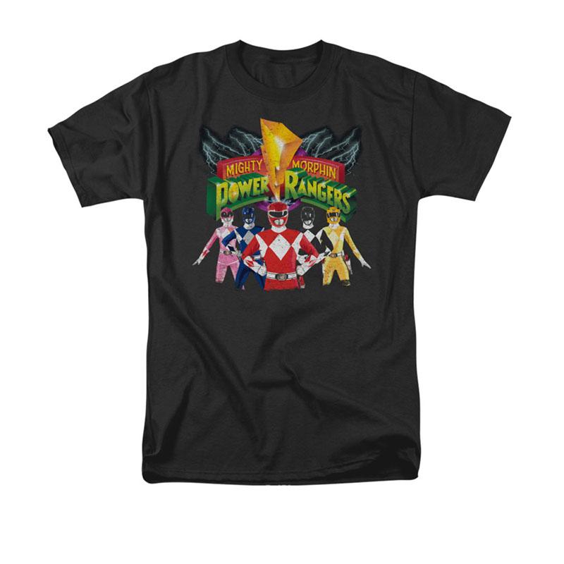 Power Rangers Unite Black T-Shirt
