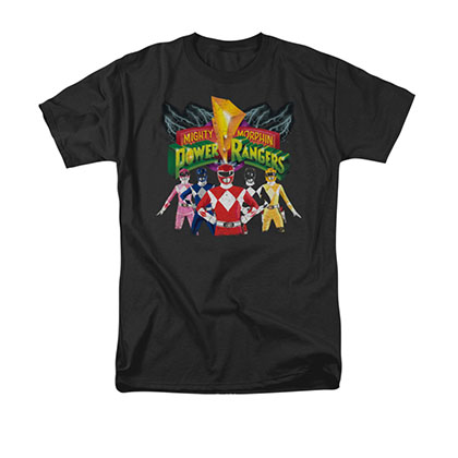 Power Rangers Unite Black T-Shirt