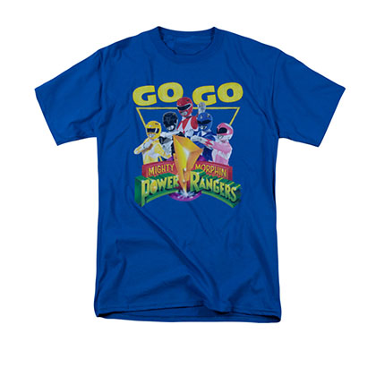 Power Rangers Men's Blue Go Go Tee Shirt