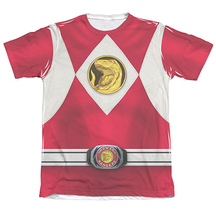 Power Rangers Emblem Costume Red Sublimation T-Shirt