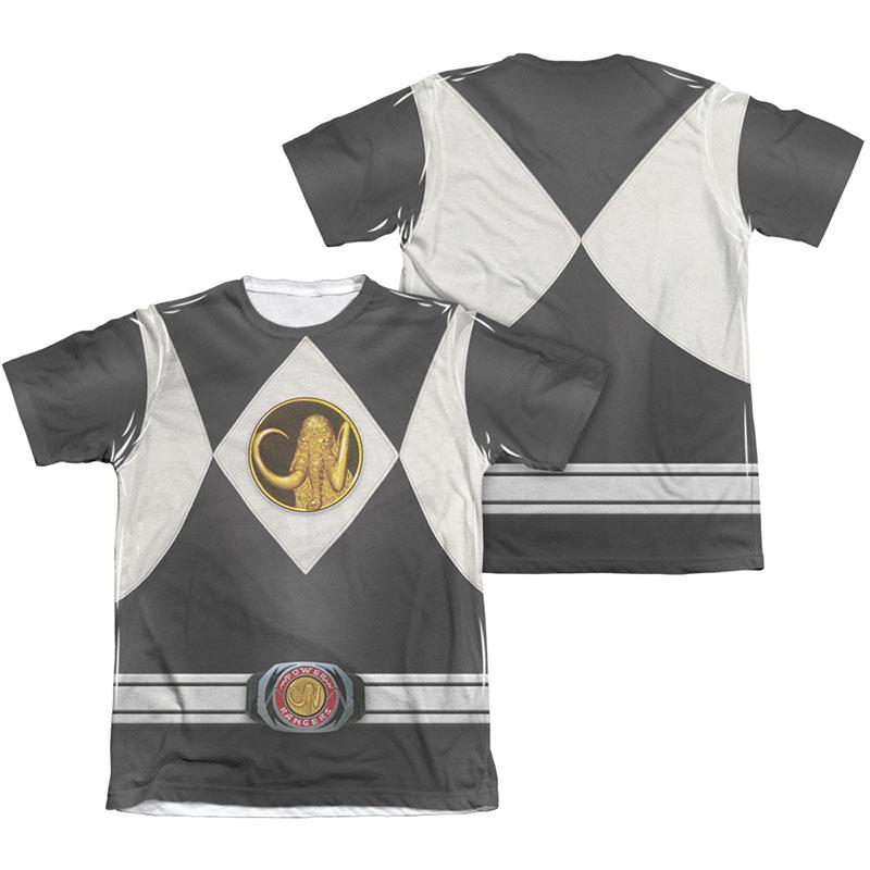 Power Rangers Emblem Costume Black Sublimation T-Shirt