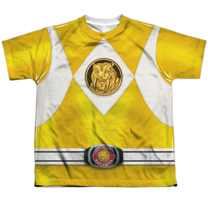 Power Rangers Yellow Ranger Emblem Youth Costume Tee