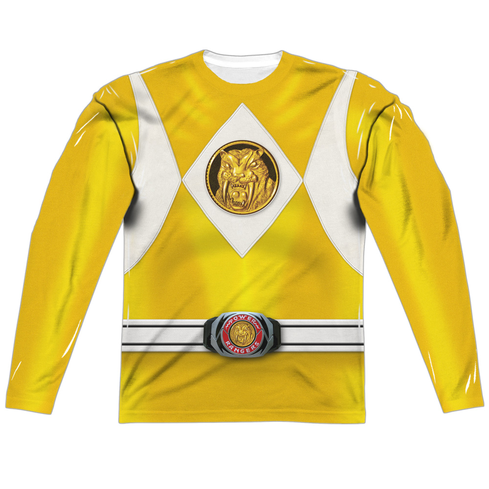 Power Rangers Yellow Ranger Long Sleeve Costume Tee