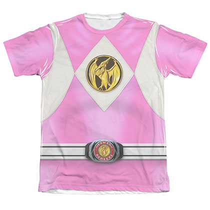 Power Rangers Emblem Costume Pink Sublimation T-Shirt