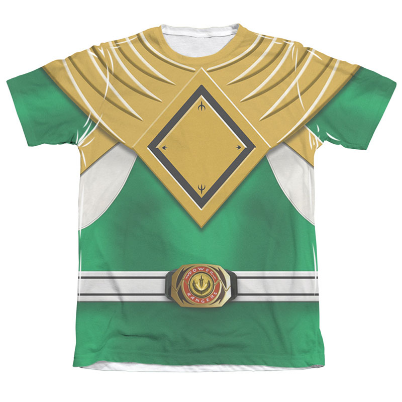 Power Rangers Green Ranger Front and Back Print Costume Tee