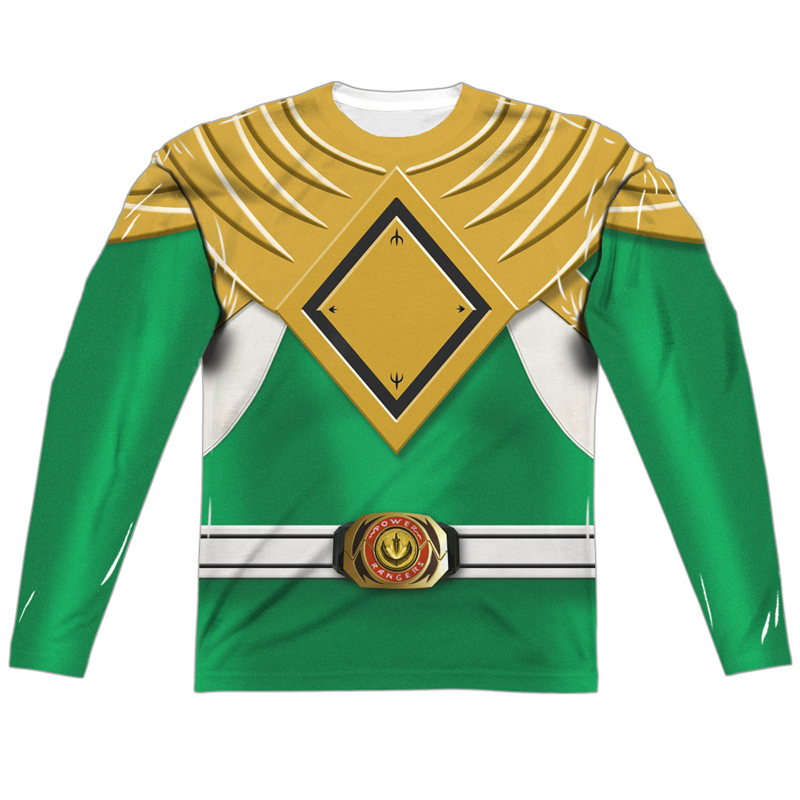 Power Rangers Green Ranger Long Sleeve Costume Tee