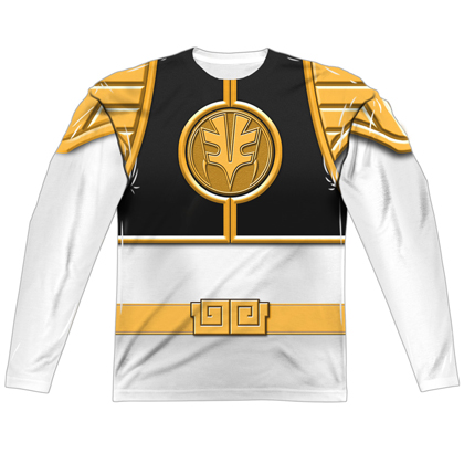 Power Rangers White Ranger Long Sleeve Costume Tee