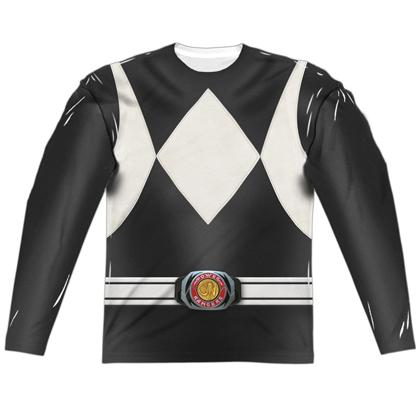 Power Rangers Black Ranger Long Sleeve Costume Tee