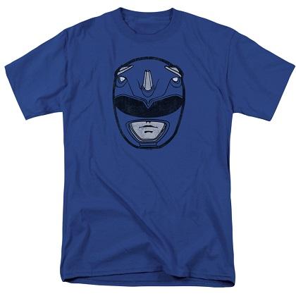 Power Rangers Blue Ranger Helmet Tshirt
