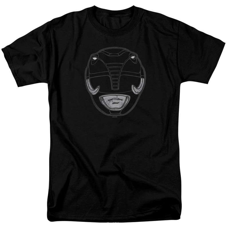 Power Rangers Black Ranger Helmet Tshirt