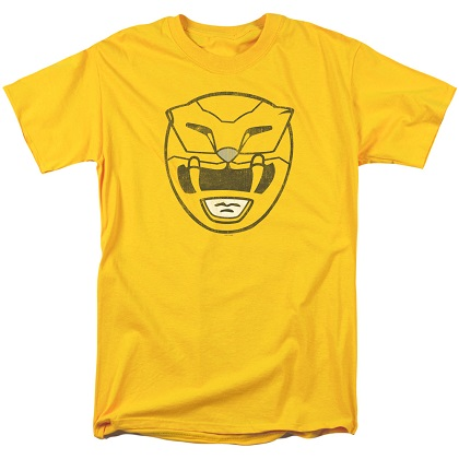 Power Rangers Yellow Ranger Helmet Tshirt