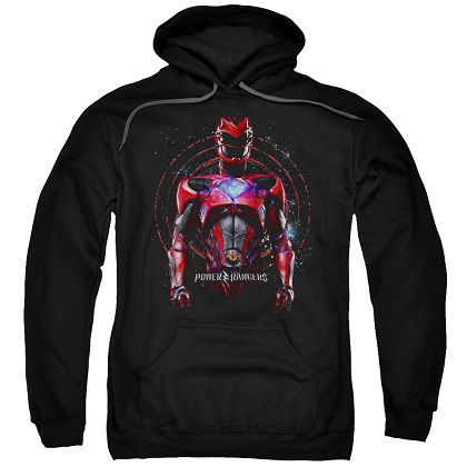 Power Rangers The Movie Red Ranger Black Hoodie