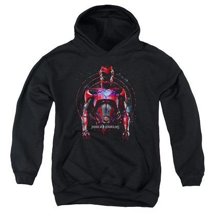 Power Rangers The Movie Red Ranger Black Youth Hoodie