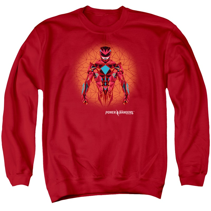 Power Rangers The Movie Red Ranger Crewneck Sweatshirt