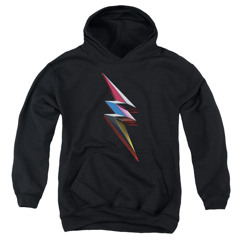 Power Rangers The Movie Bolt Logo Youth Hoodie
