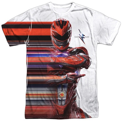 Power Rangers The Movie Red Streak Tshirt
