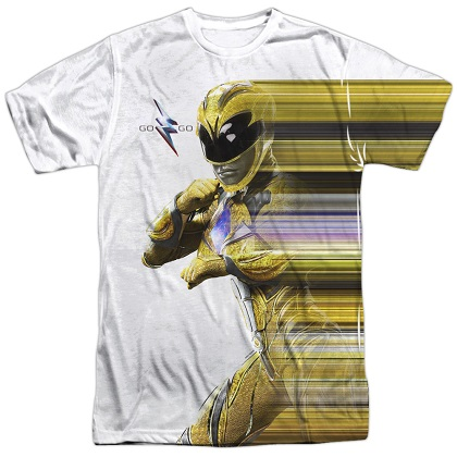 Power Rangers The Movie Yellow Streak Tshirt