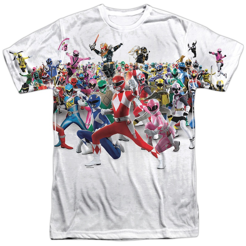 Power Rangers Every Generation Tshirt
