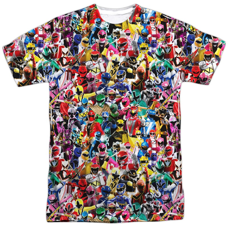 Power Rangers Crowd of Heroes Tshirt