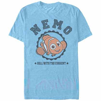 Disney Pixar Finding Dory Nemo Varsity Blue  T-Shirt