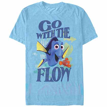 Disney Pixar Finding Dory Flow Blue  T-Shirt