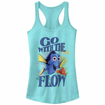Disney Pixar Finding Dory Flow Blue Juniors Tank Top