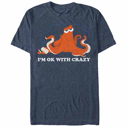 Disney Pixar Finding Dory Okay Crazy Blue T-Shirt