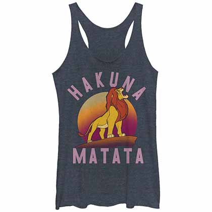 Disney Lion King Warrior Blue Juniors Tank Top