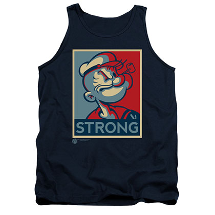 Popeye Men's Blue Political Strong Tank Top